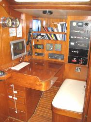 Swan yacht S&S 44 charter table